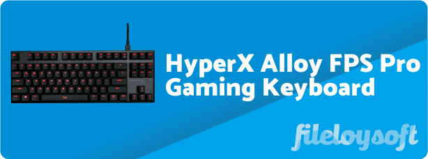HyperX Alloy FPS Pro Software, Driver, Manual, Download