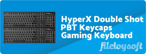HyperX Double Shot PBT Keycaps Software, Driver, Manual, Download