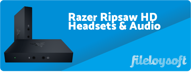 Razer Ripsaw HD Manua, Software, Driver