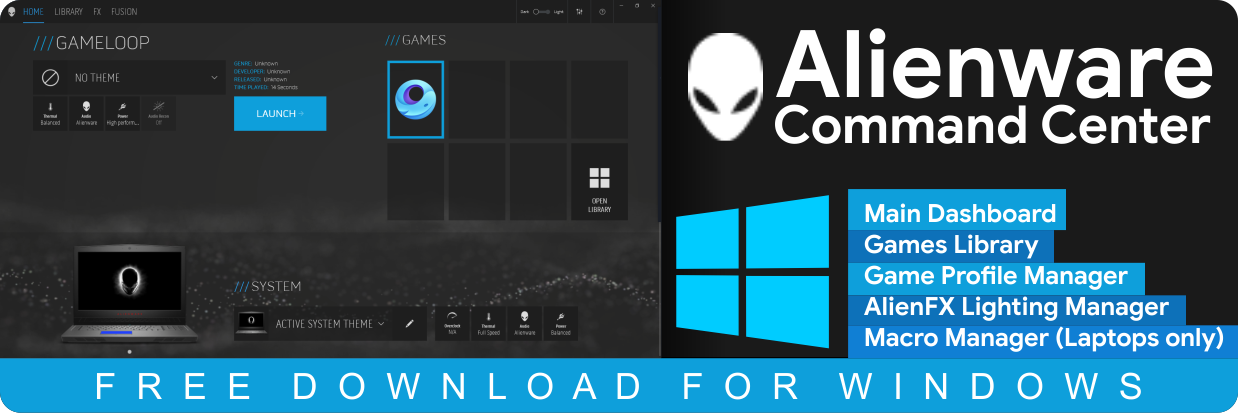 Alienware Command Center Free Download for Windows 10 64-bit, 32-bit